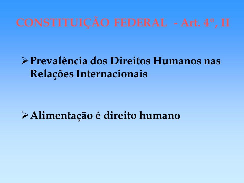 CONSTITUIÇÃO FEDERAL - Art. 4º, II