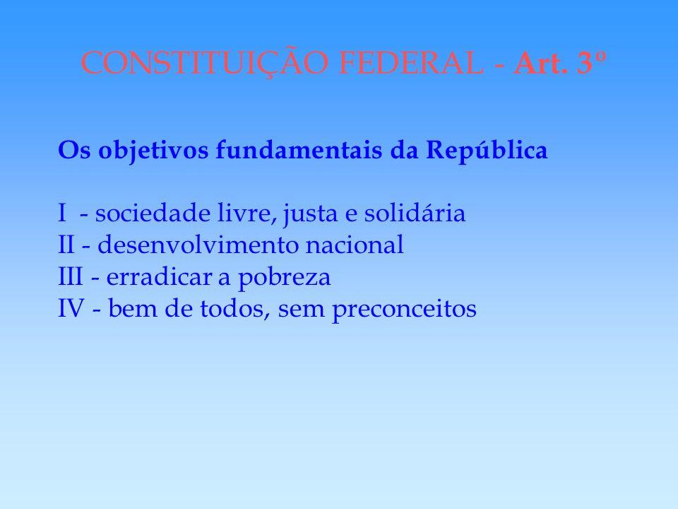 CONSTITUIÇÃO FEDERAL - Art. 3º