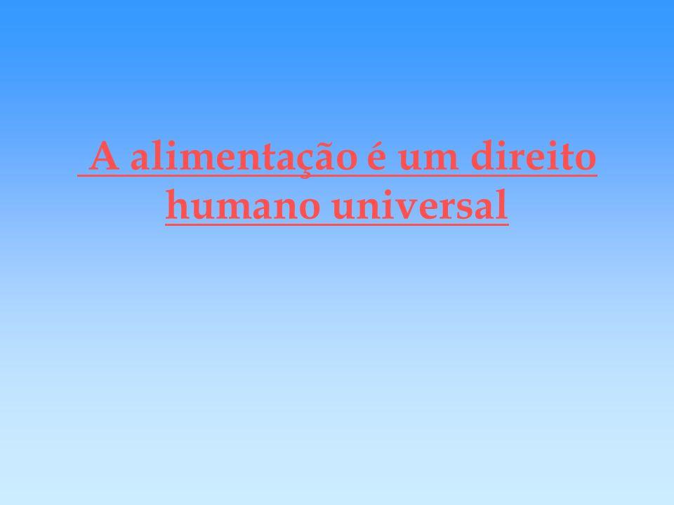 A alimentação é um direito humano universal