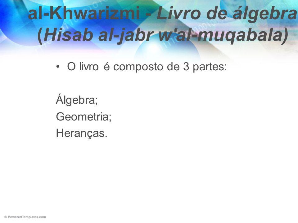 al-Khwarizmi - Livro de álgebra (Hisab al-jabr w al-muqabala)