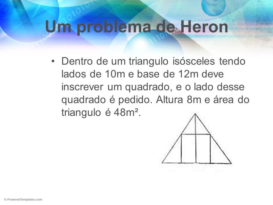 Um problema de Heron