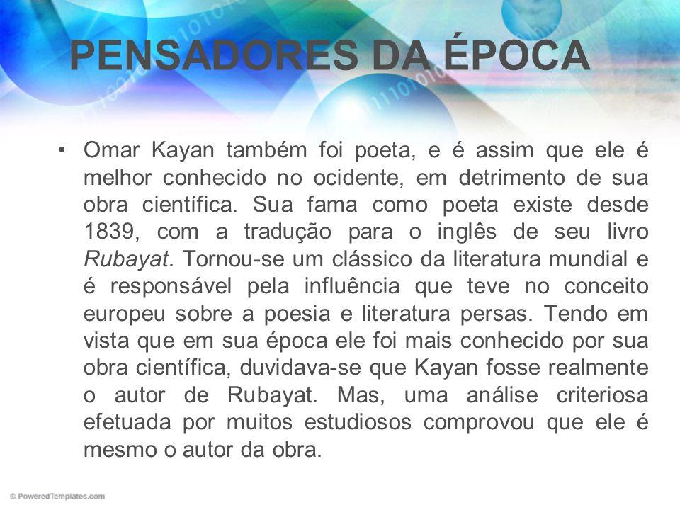 PENSADORES DA ÉPOCA