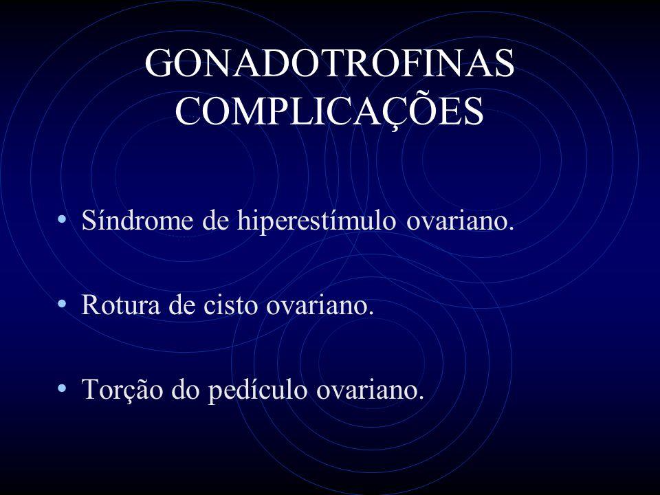 GONADOTROFINAS COMPLICAÇÕES