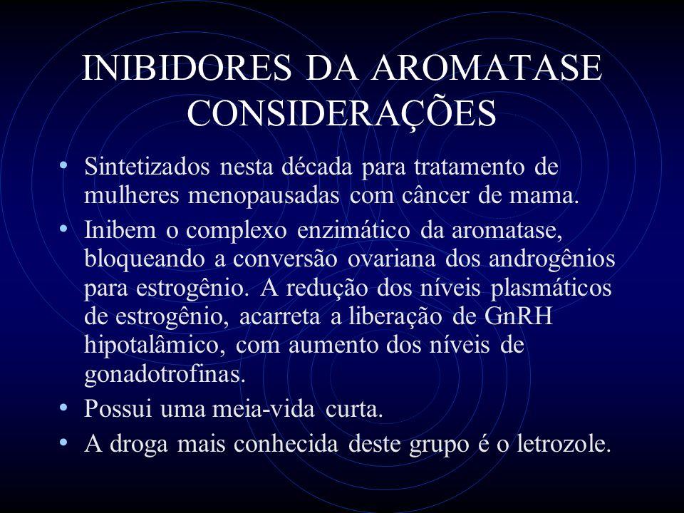 INIBIDORES DA AROMATASE CONSIDERAÇÕES