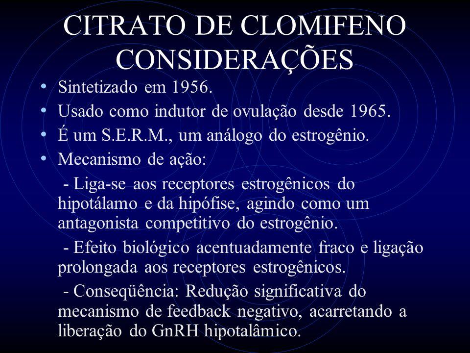 CITRATO DE CLOMIFENO CONSIDERAÇÕES
