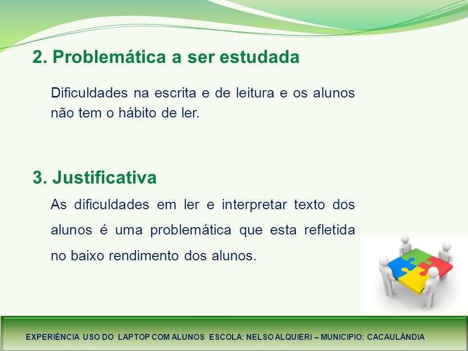 2. Problemática a ser estudada