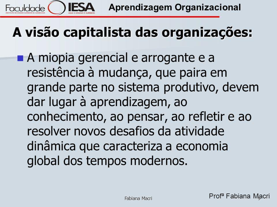 A visão capitalista das organizações: