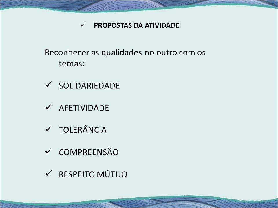 PROPOSTAS DA ATIVIDADE