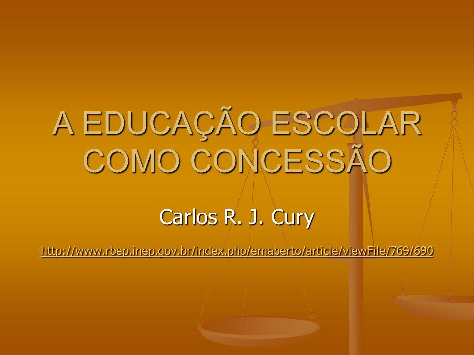 A EDUCAÇÃO ESCOLAR COMO CONCESSÃO