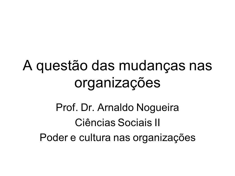 A questão das mudanças nas organizações