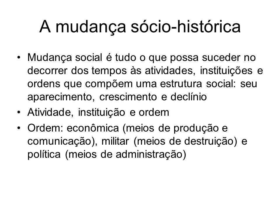 A mudança sócio-histórica