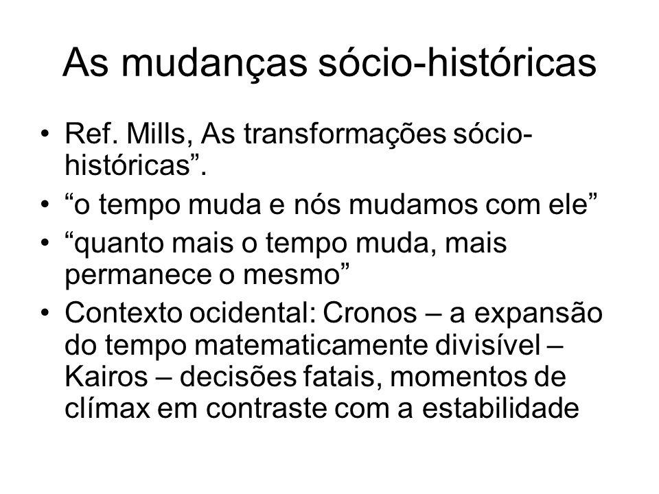 As mudanças sócio-históricas