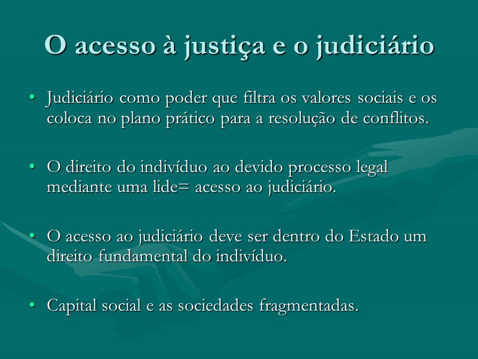 O acesso à justiça e o judiciário