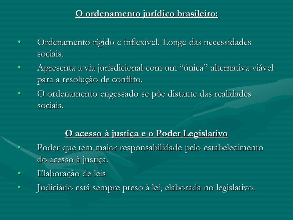O acesso à justiça e o Poder Legislativo