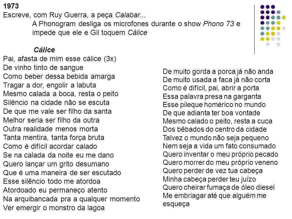 Escreve, com Ruy Guerra, a peça Calabar...