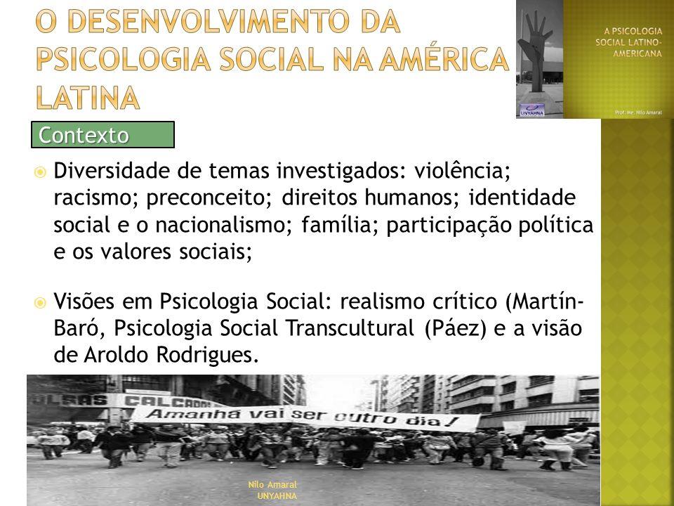 O desenvolvimento da psicologia social na América latina