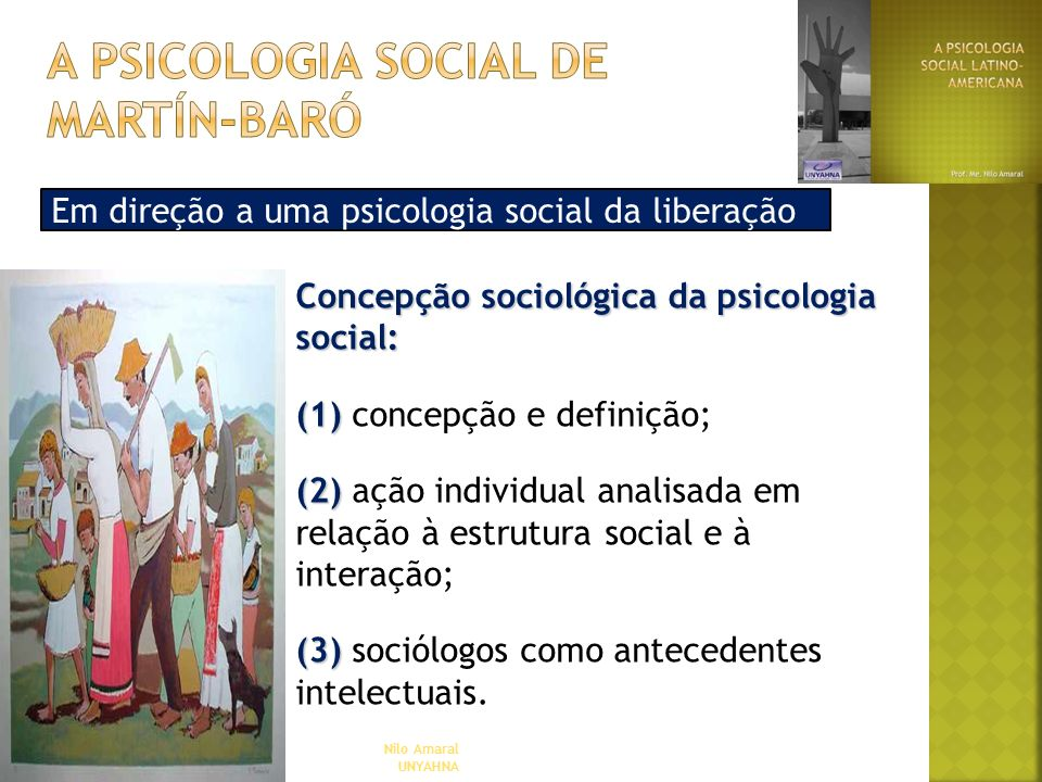 a psicologia social de martín-baró