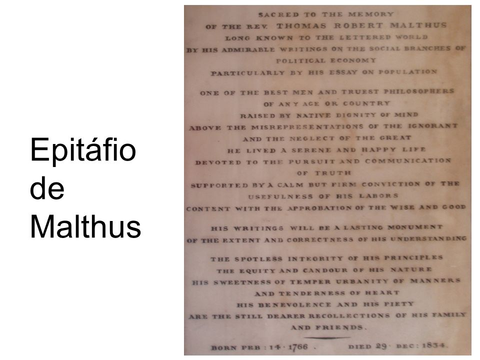 Epitáfio de Malthus