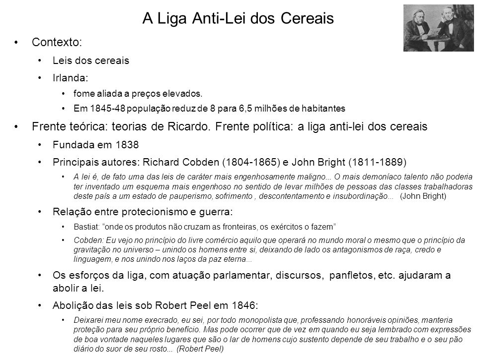 A Liga Anti-Lei dos Cereais