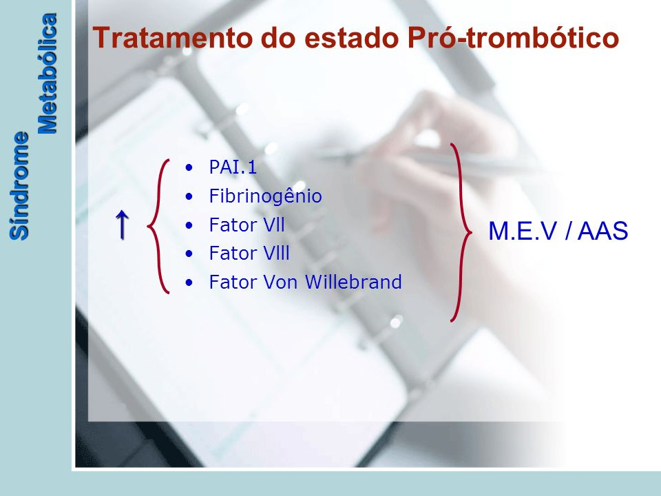 Tratamento do estado Pró-trombótico