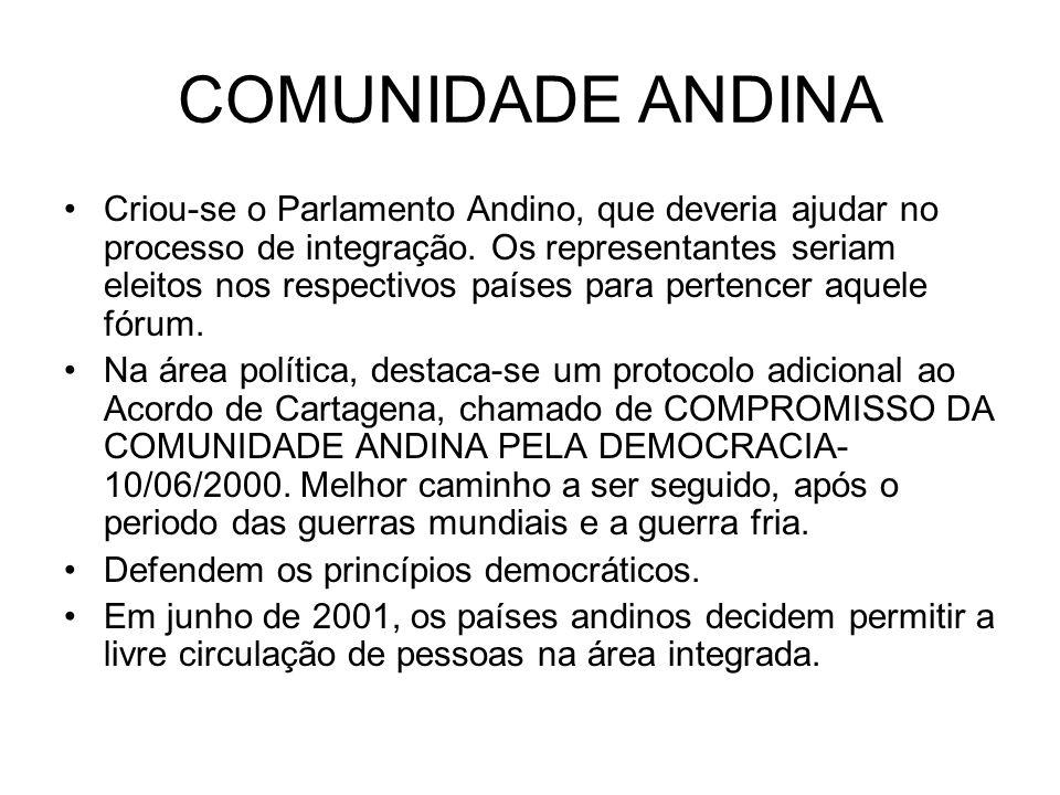 COMUNIDADE ANDINA