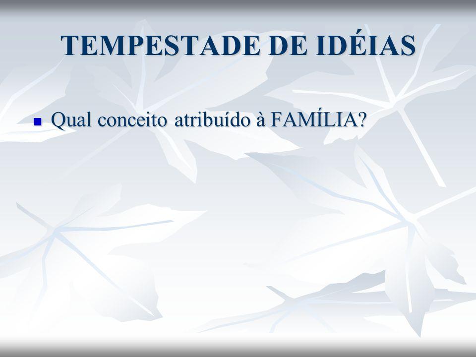 TEMPESTADE DE IDÉIAS Qual conceito atribuído à FAMÍLIA