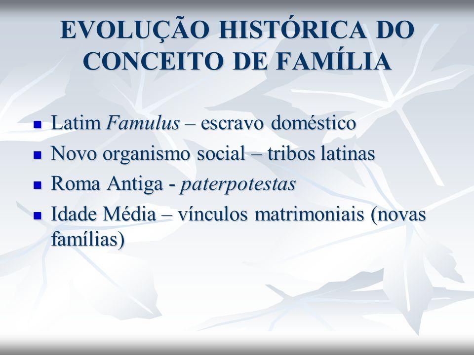 EVOLUÇÃO HISTÓRICA DO CONCEITO DE FAMÍLIA
