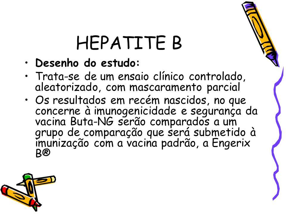 HEPATITE B Desenho do estudo: