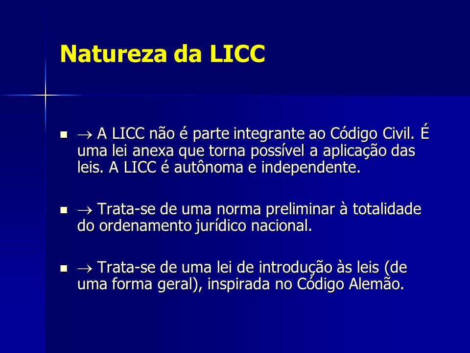 Natureza da LICC