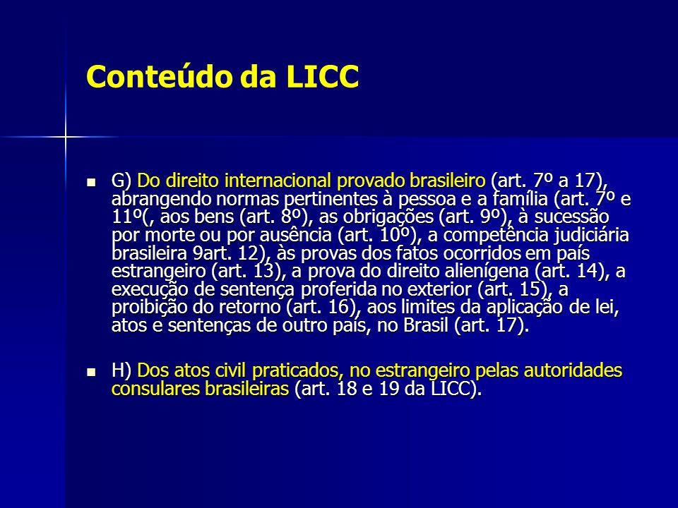 Conteúdo da LICC