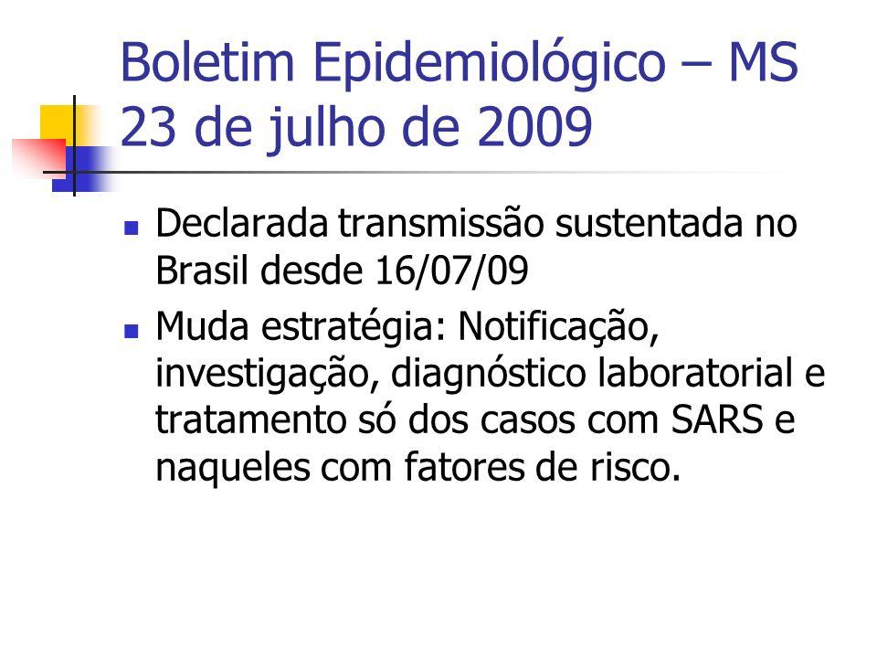 Boletim Epidemiológico – MS 23 de julho de 2009