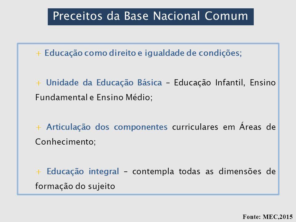 Preceitos da Base Nacional Comum