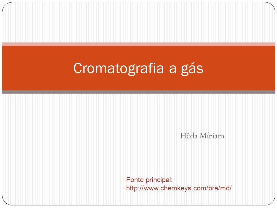 Cromatografia a gás Hêda Míriam
