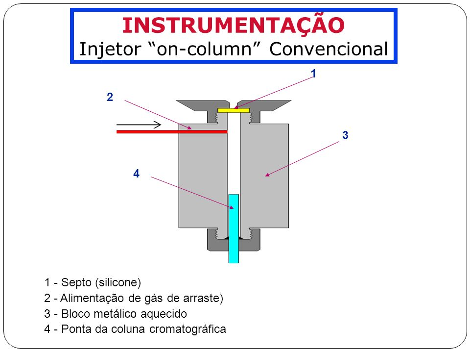 Injetor on-column Convencional