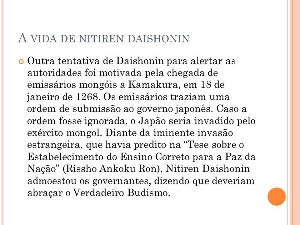 A vida de nitiren daishonin