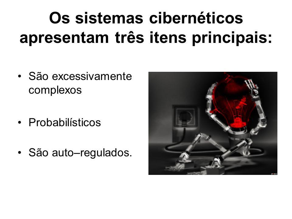 Os sistemas cibernéticos apresentam três itens principais: