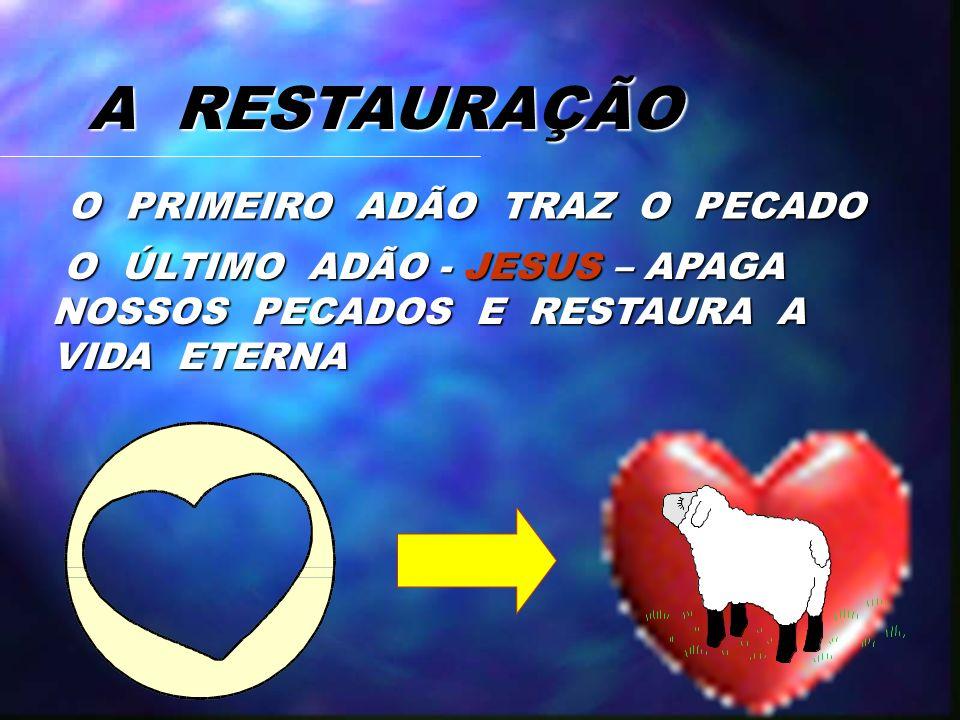 A RESTAURAÇÃO O PRIMEIRO ADÃO TRAZ O PECADO
