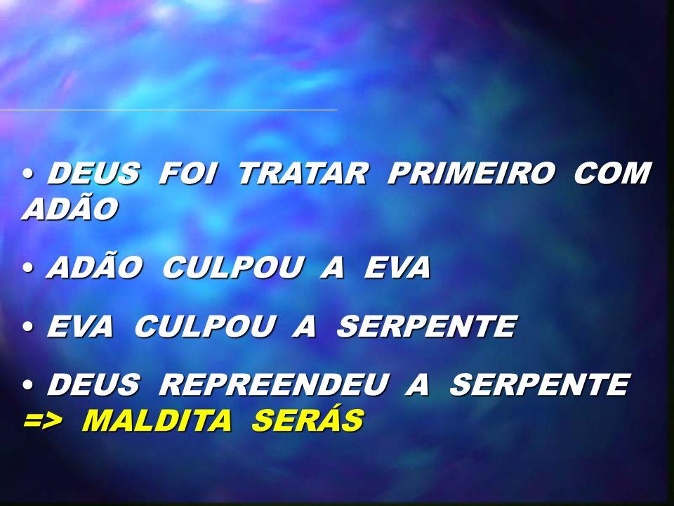 DEUS FOI TRATAR PRIMEIRO COM ADÃO