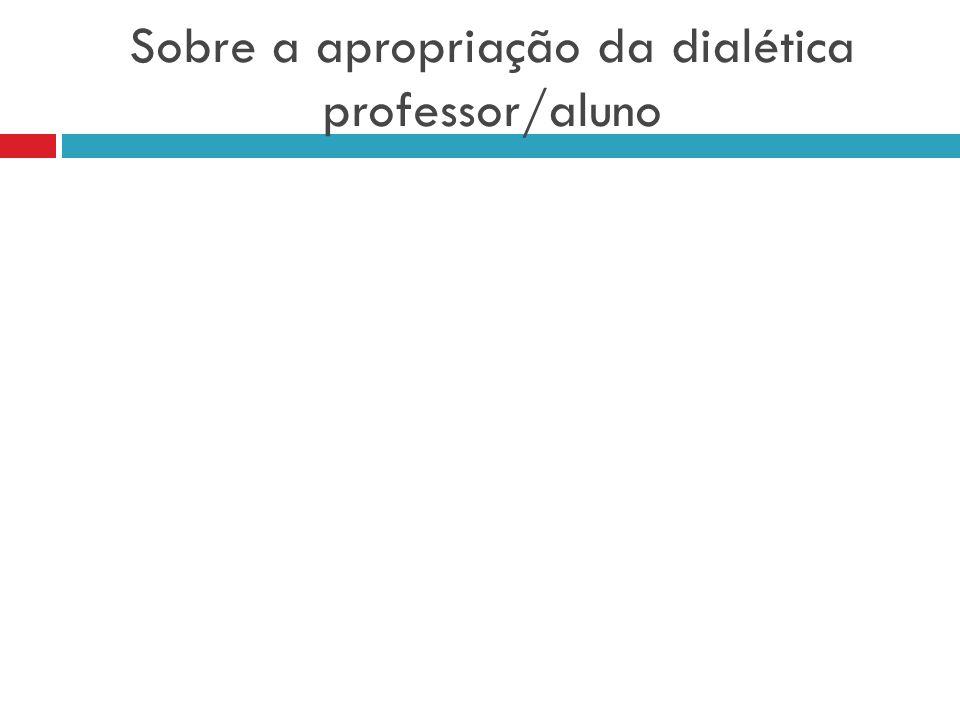Sobre a apropriação da dialética professor/aluno