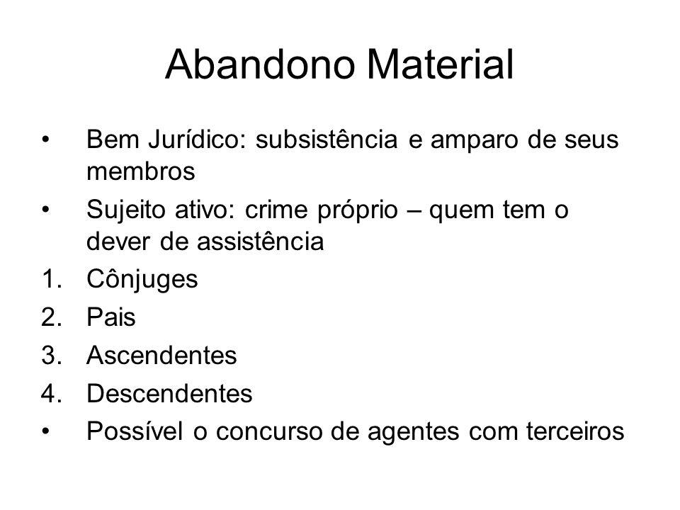 Abandono Material Bem Jurídico: subsistência e amparo de seus membros