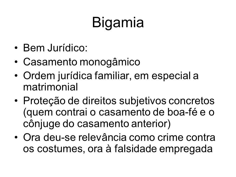 Bigamia Bem Jurídico: Casamento monogâmico