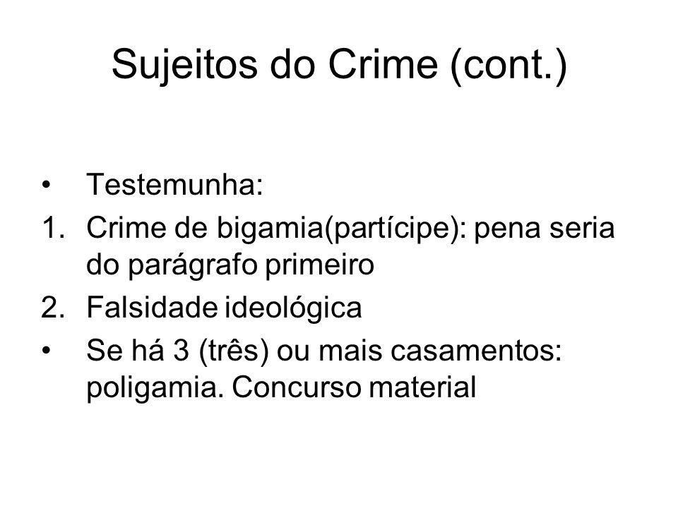 Sujeitos do Crime (cont.)