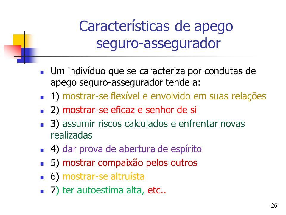 Características de apego seguro-assegurador