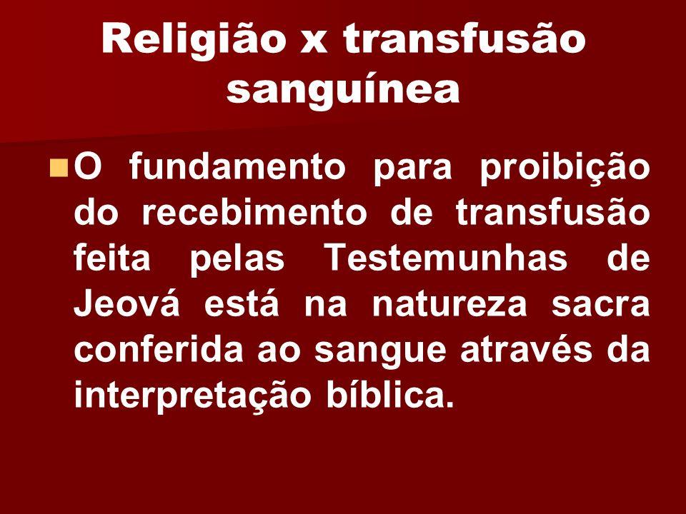 Religião x transfusão sanguínea