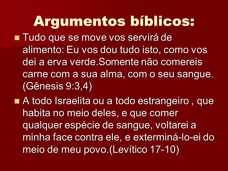 Argumentos bíblicos: