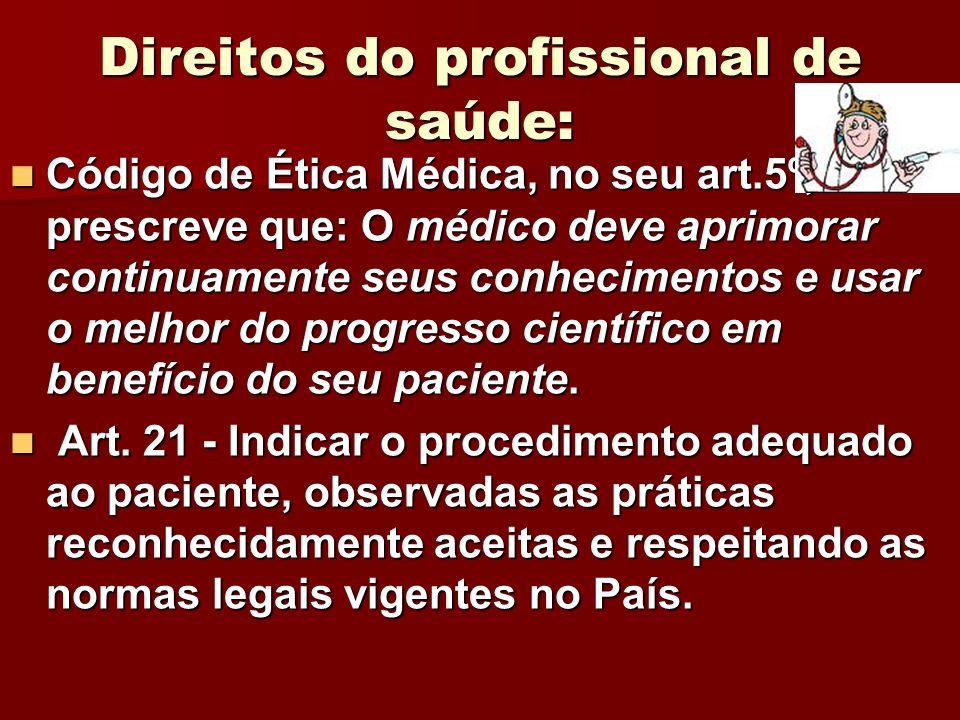 Direitos do profissional de saúde: