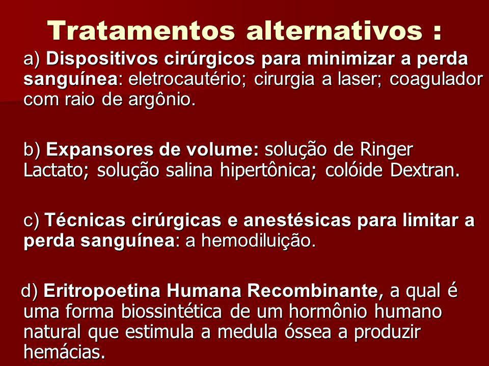Tratamentos alternativos :