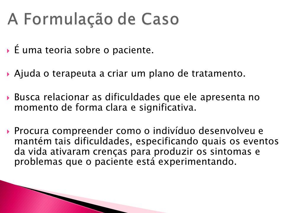 A Formulação de Caso É uma teoria sobre o paciente.