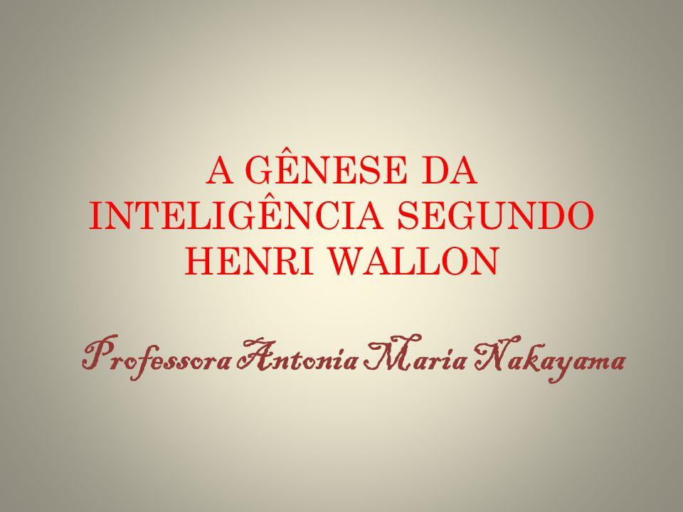 A GÊNESE DA INTELIGÊNCIA SEGUNDO HENRI WALLON