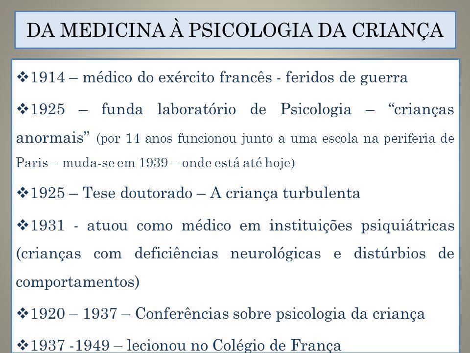 DA MEDICINA À PSICOLOGIA DA CRIANÇA
